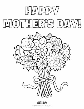 Best Mother's Day Coloring Pages — Minno Parents