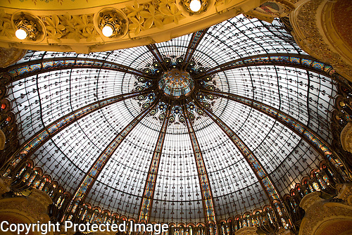 Galeries Lafayette Shopping Gallery Dome, Paris, France