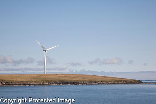 Renewable Wind Turbine, Sanday, Orkney Islands, Scotland