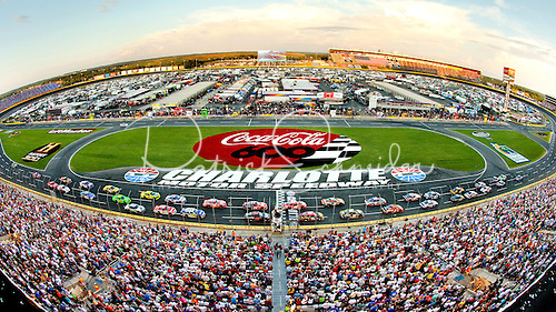 Photo of the new Coca-Cola 600 race logo during the 2012 race at the Charlotte Motor Speedway.