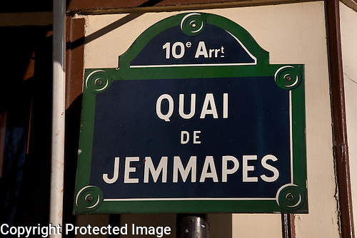 Street Sign, Paris, France
