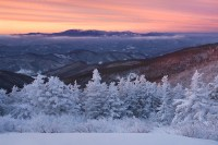Sunrise after a clearing winter storm in the Roan ...