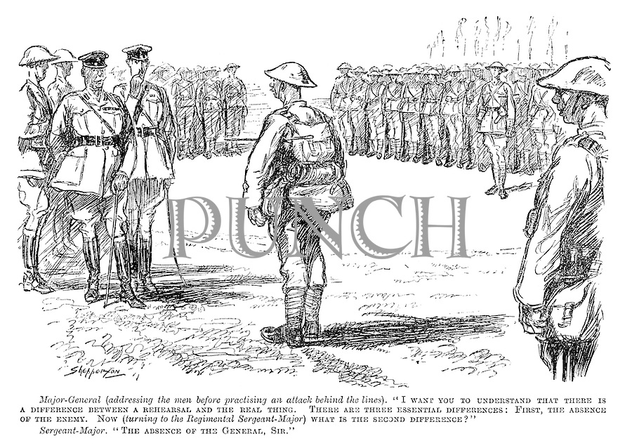 WW1 Generals and Soldiers Cartoons from Punch magazine by