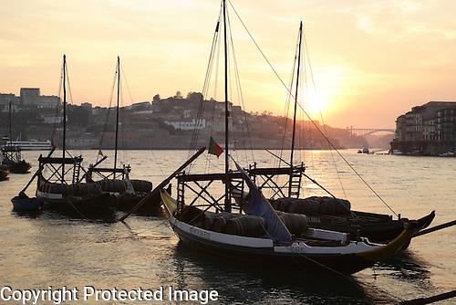 Wine Barges on the River Douro in Porto - Oporto, Portugal