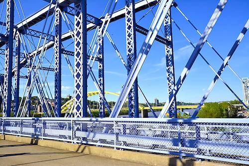 The Purple People Bridge over the Ohio River.