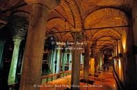 Columns inside one of many Byzantine cisterns underneath ...
