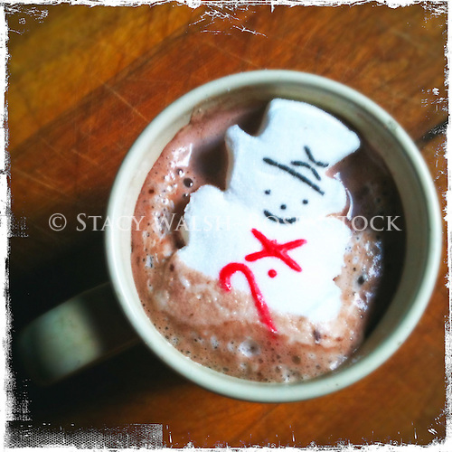 hot chocolate on a cold January afternoon