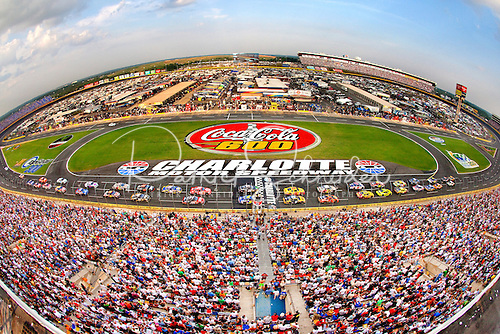 Photo of the previous Coca-Cola 600 race logo. Photo is from the 2012 race at the Charlotte Motor Speedway.