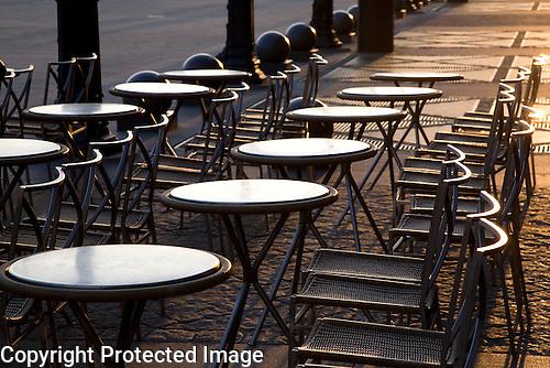 Cafe Table, Paris, France