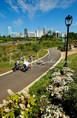 Photo: Midtown Park and the Little Sugar Creek Greenway is popular with residents and downtown workers seeking exercise.