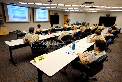 Photo: Duke Energy employees lead the sessions to ensure the Boy Scouts are receiving real-world experience and accurate information.