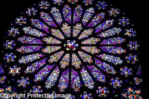 Stained Glass Rose Window, St Denis Cathedral, Paris, France