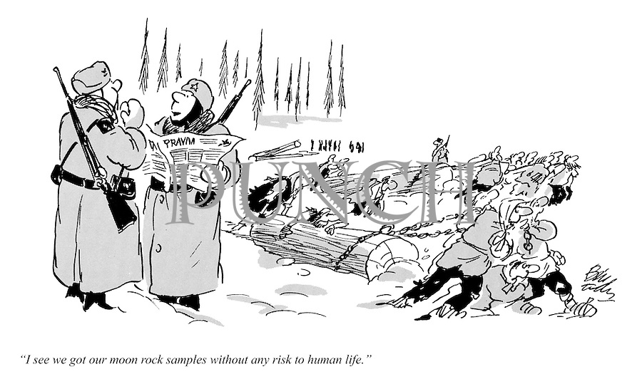 Soviet Russia slave labour cartoons from Punch magazine by