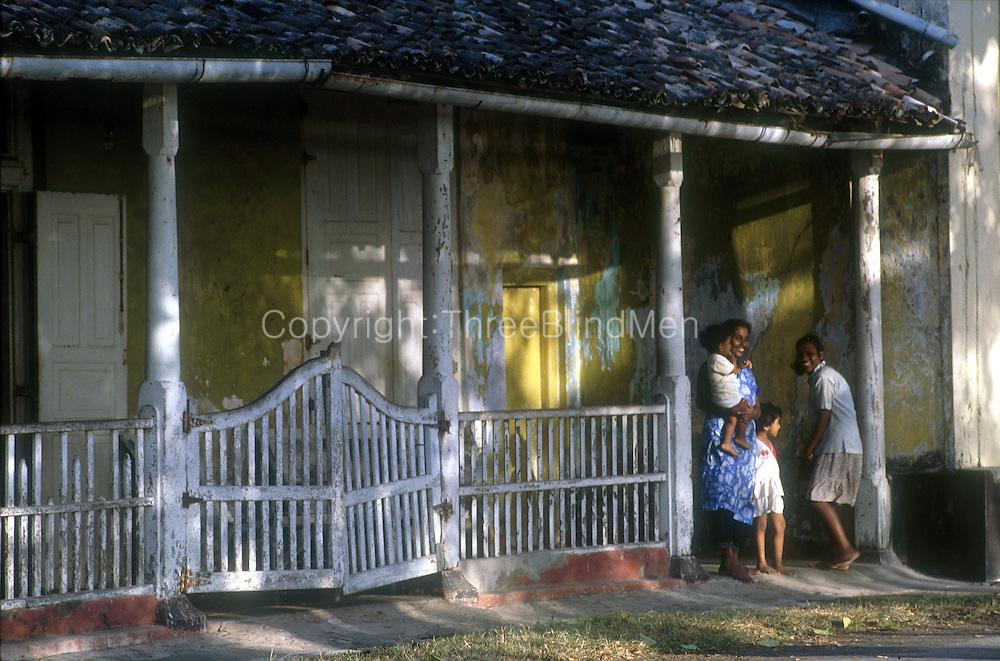 Sri Lanka Galle Fort House Front Threeblindmen