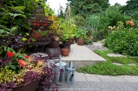 Urban front yard container garden | GreenFuse Photos ...