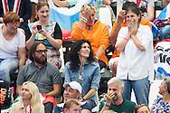 The girlfriend of PALTRINIERI Gregorio ITA gold medal and JAEGER Connor USA silver medal<br /> Swimming - Men's 1500m freestyle final <br /> Day 17 09/08/2015<br /> XVI FINA World Championships Aquatics Swimming<br /> Kazan Tatarstan RUS July 24 - Aug 9 2015 <br /> Photo Giorgio Perottino/Deepbluemedia/Insidefoto
