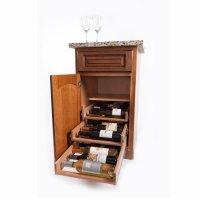 Wine Logic 3 Tray/18 Bottle In Cabinet Wine Rack Maple WL ...