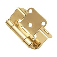 "Hickory Hardware Partial Wrap 1/2"" Overlay Hinge Pair"