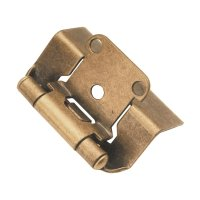 "Hickory Hardware Full Wrap 1/2"" Overlay Hinge Pair Antique"