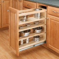 "Rev-A-Shelf 3-Tier Pull-Out Base Organizer 5"" Wood 448-BC ..."