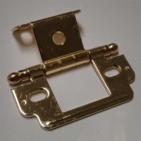 Amerock Full Inset Ball Tip Hinge-Polished Brass Sold Each ...