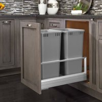 Rev-A-Shelf Double Trash Pullout 50 Quart-Silver 5149 ...