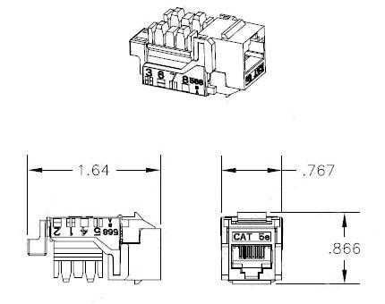 Hellermann Tyton Megaband Cat5e Modular Keystone Jack