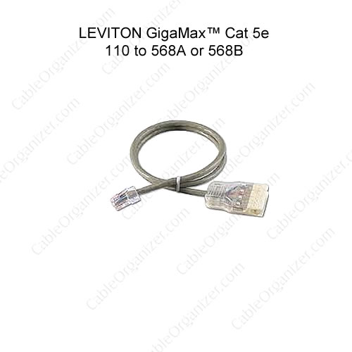 Leviton GigaMax Cat 5e 110 Style Patch Cords