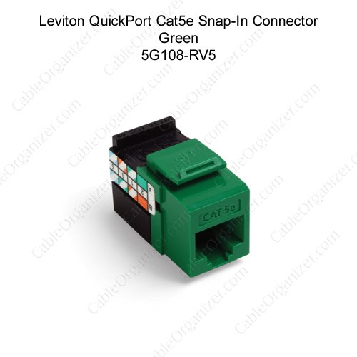 leviton quickport cat 5e gigamax snapin connector jack