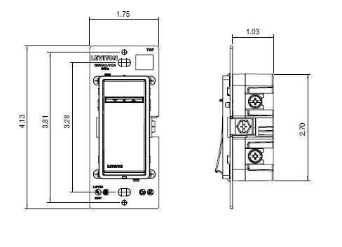 Leviton Vizia+ Matching Dimmer & Switch Remote