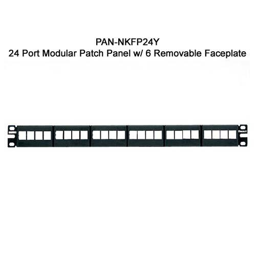 Panduit NetKey™ Modular Faceplate Patch Panel