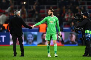 de gea, manchester united, cinque, mourinho, 2017/18