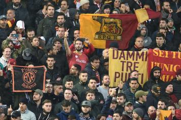 Tifosi Roma Anfield Liverpool