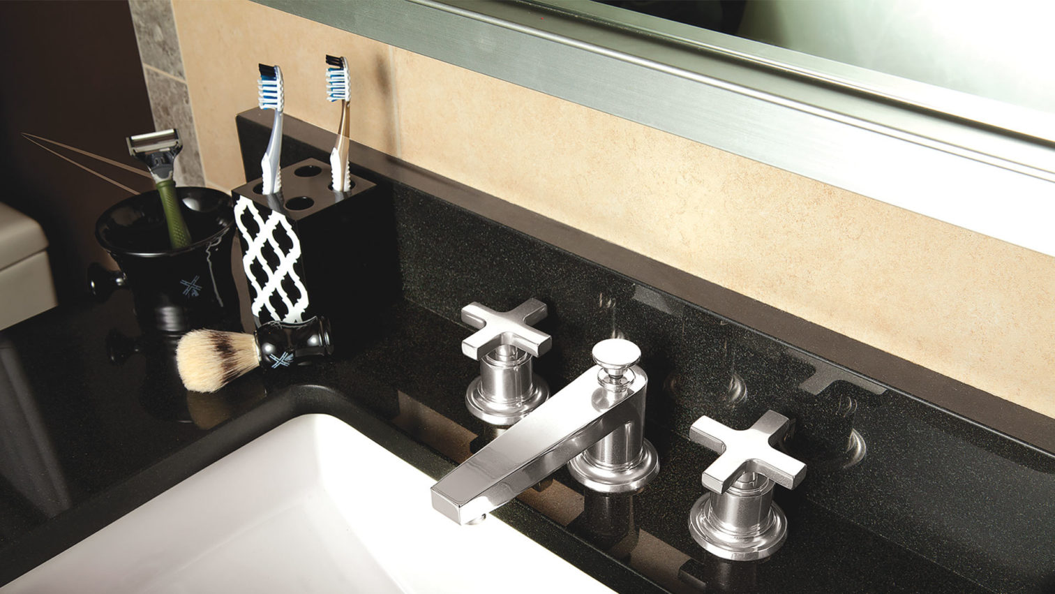 mid century modern faucet line