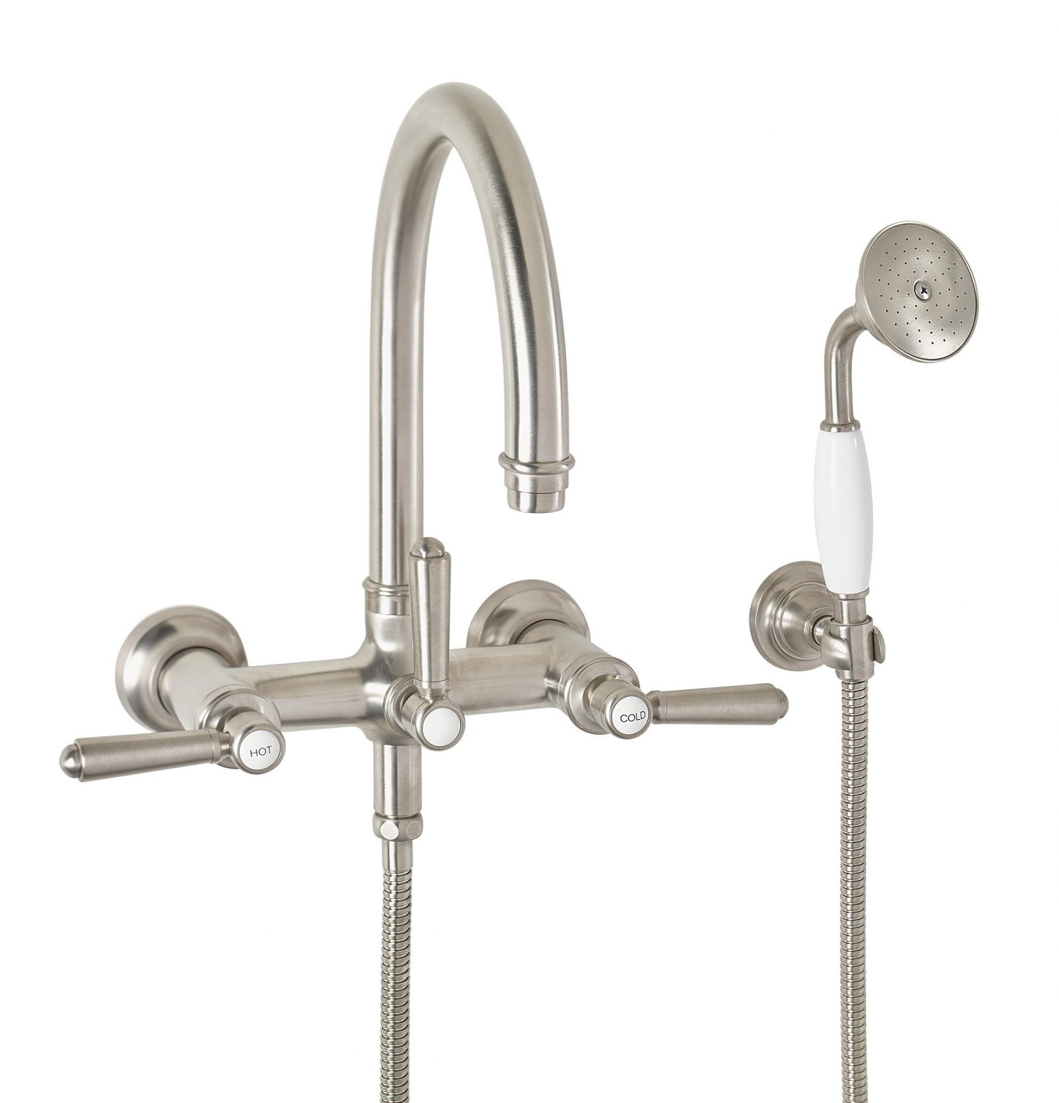 traditional wall mount tub filler