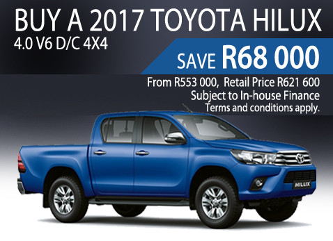 2017 Toyota Hilux 4.0 V6 D/C 4x4 - Save R68 000