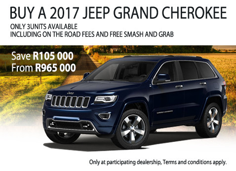 2017 Jeep Grand Cherokee special - Save R105 000