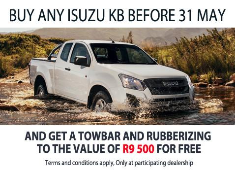 Isuzu KB Bakkie special - Valid until 31vMay 2017
