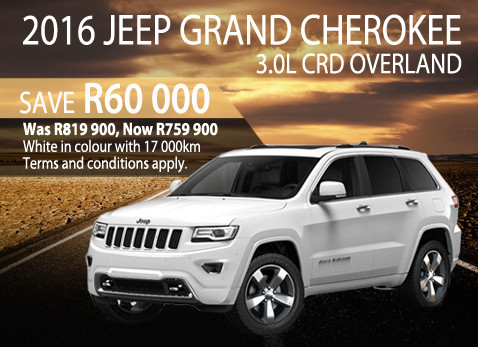 2016 Grand Cherokee - Save R60 000 in May 2017