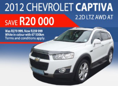 2012 Chevrolet Captiva 2.2D LTZ AWD AT - Was: R279 999 Now: R259 999
