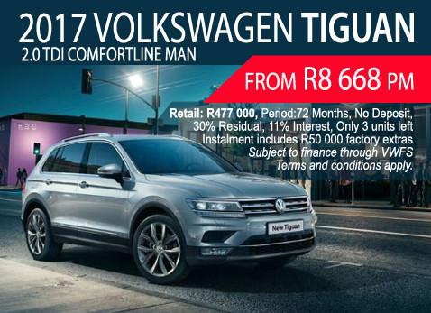 2017 Volkswagen Tiguan 2.0 TDI Comfortline MAN From Only R8 668 p/m