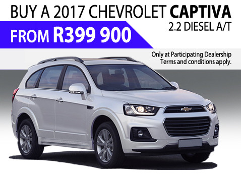 Buy a 2017 Chevrolet Captiva 2.2 Diesel A/T From R399 900