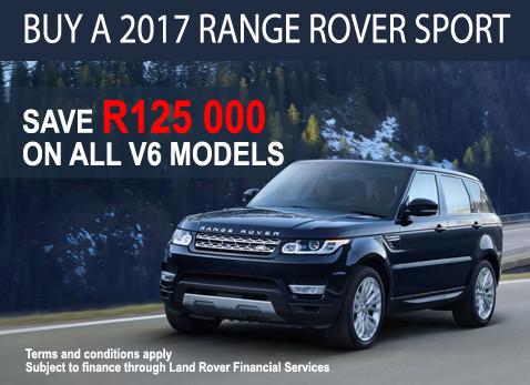 2017 Range Rover Sport V6 Model and Save R125 000