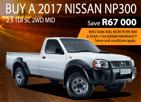 Buy a 2017 Nissan NP300 2.5 TDi S/C 2WD MID and save R22 000