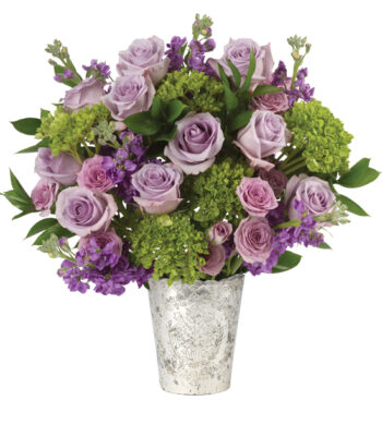 purple bouquets lavender colored