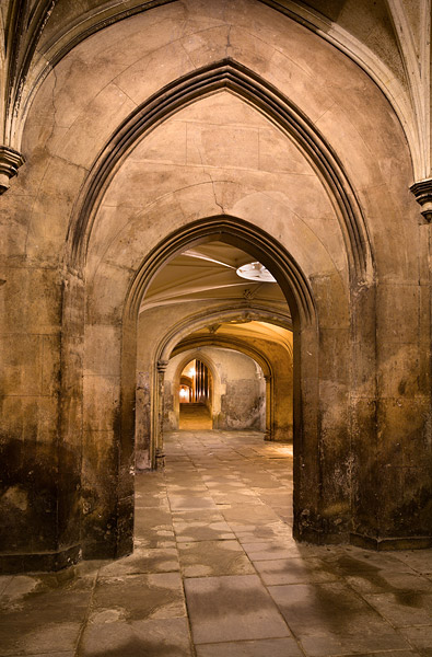New Court Archways Within St John S College At Cambridge University In England