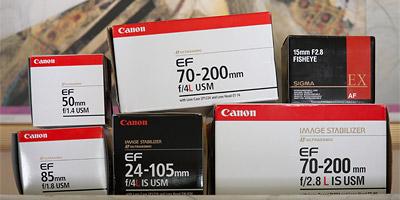 Canon camera lens boxes