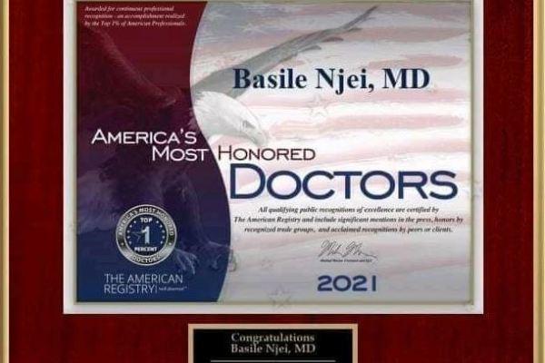 Docteur_Camerounais_Basile_Njei_USA_Certificat