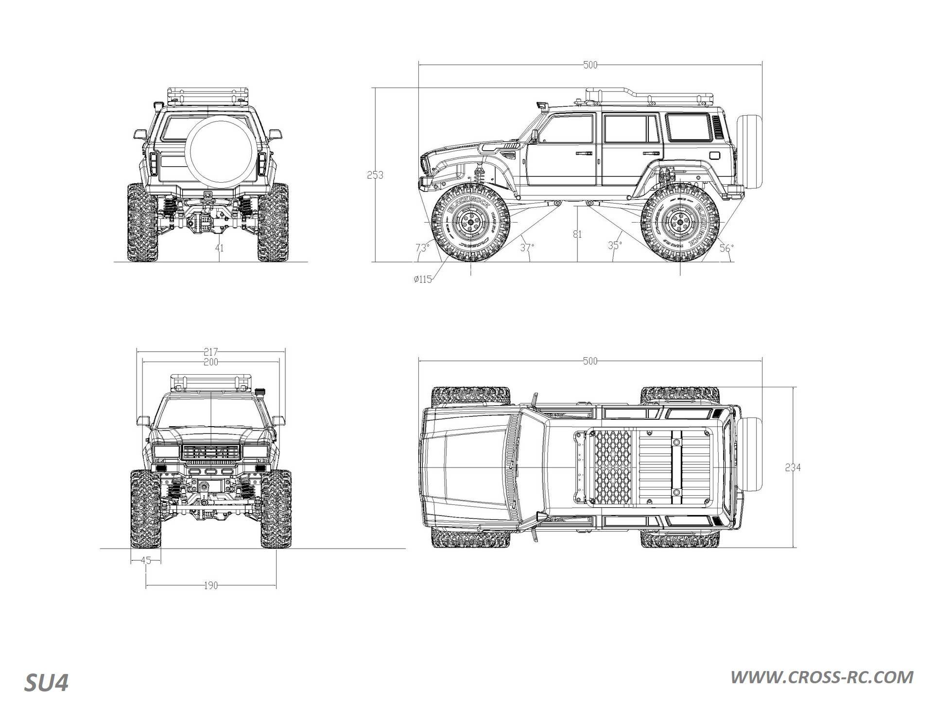 Su4c 1 10 Demon 4x4 Crawler Kit Full Hard Body Suv Cnc