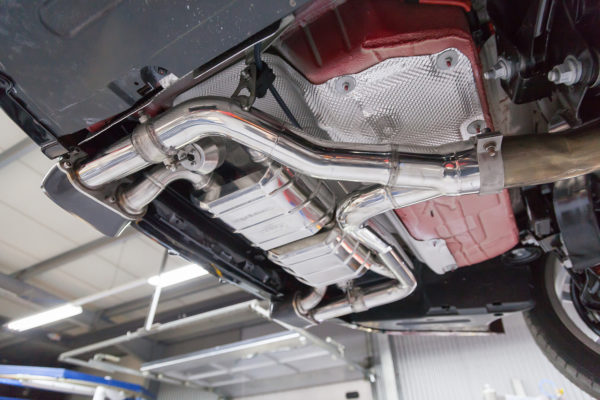 bmw 435i valved exhaust with middle silencer spare pipes and skirt diffuser ces3